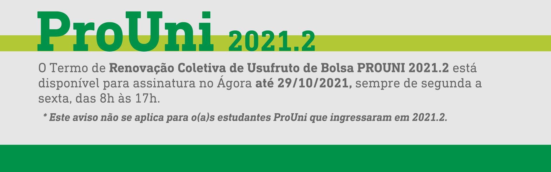 Renovação Coletiva - ProUni 2021.2