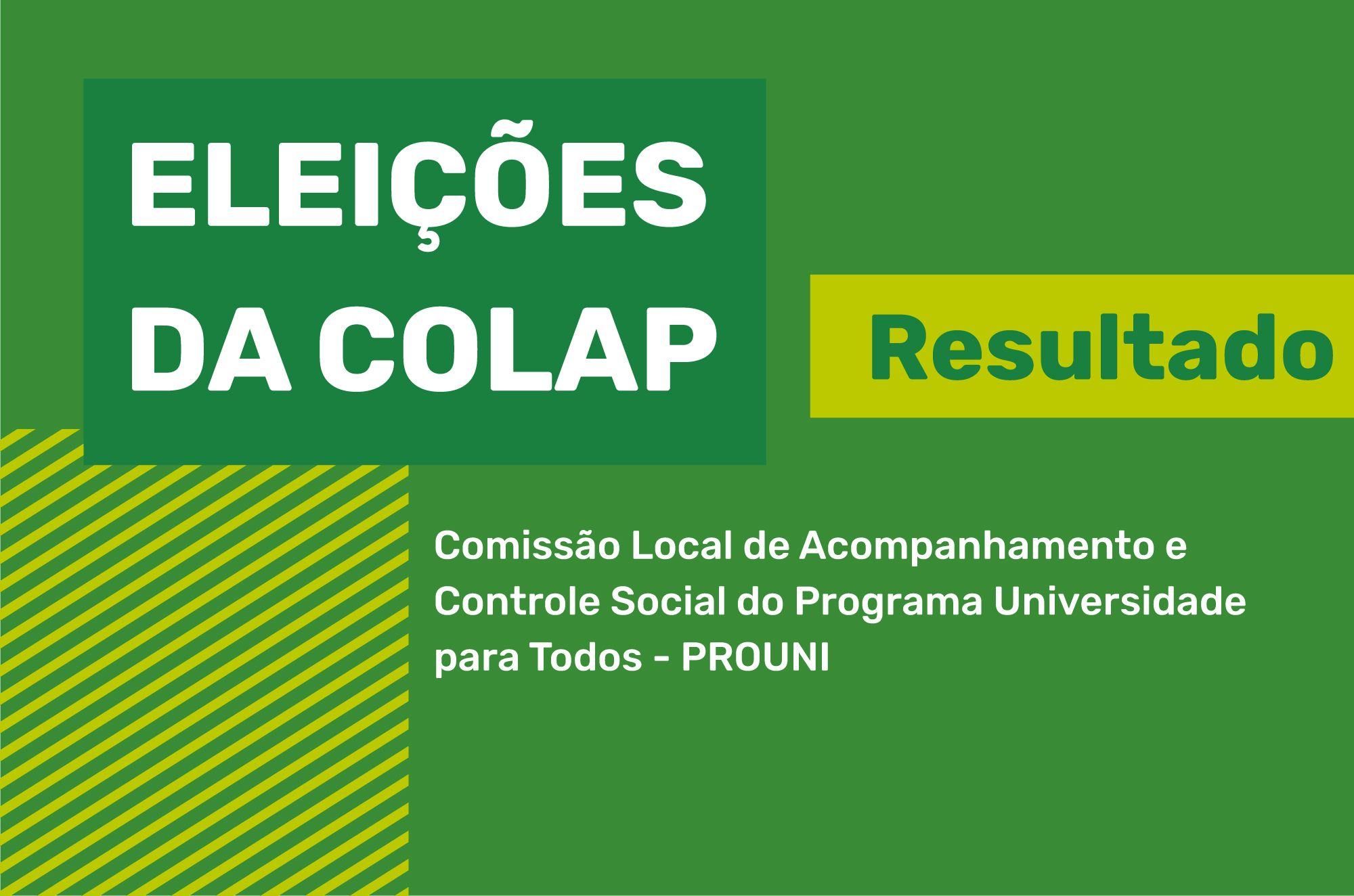 Resultado das ELEIÇÕES COLAP biênio 2020/2021 e 2021/2022