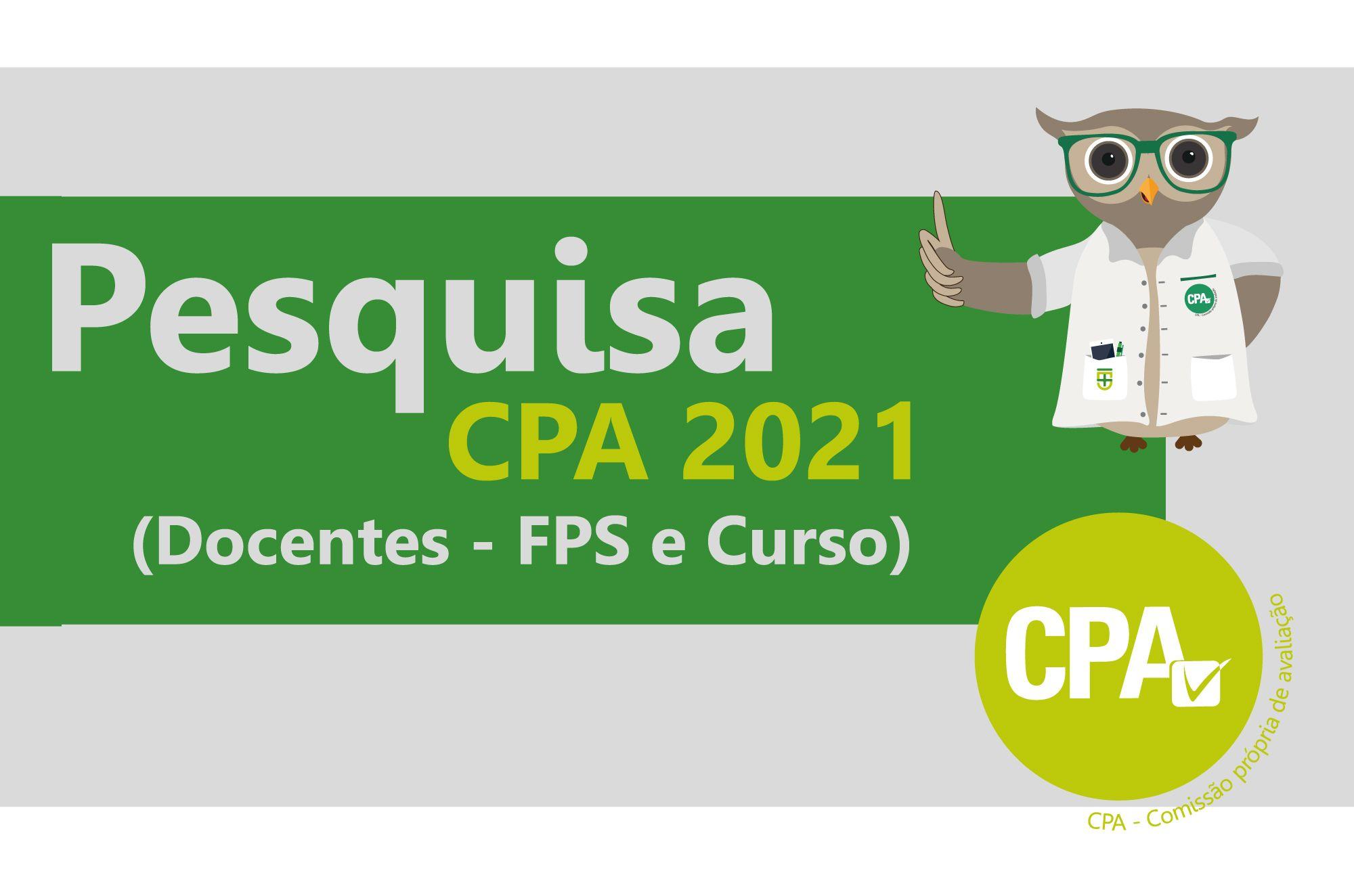Pesquisa CPA 2021 - Docentes (FPS e Curso)