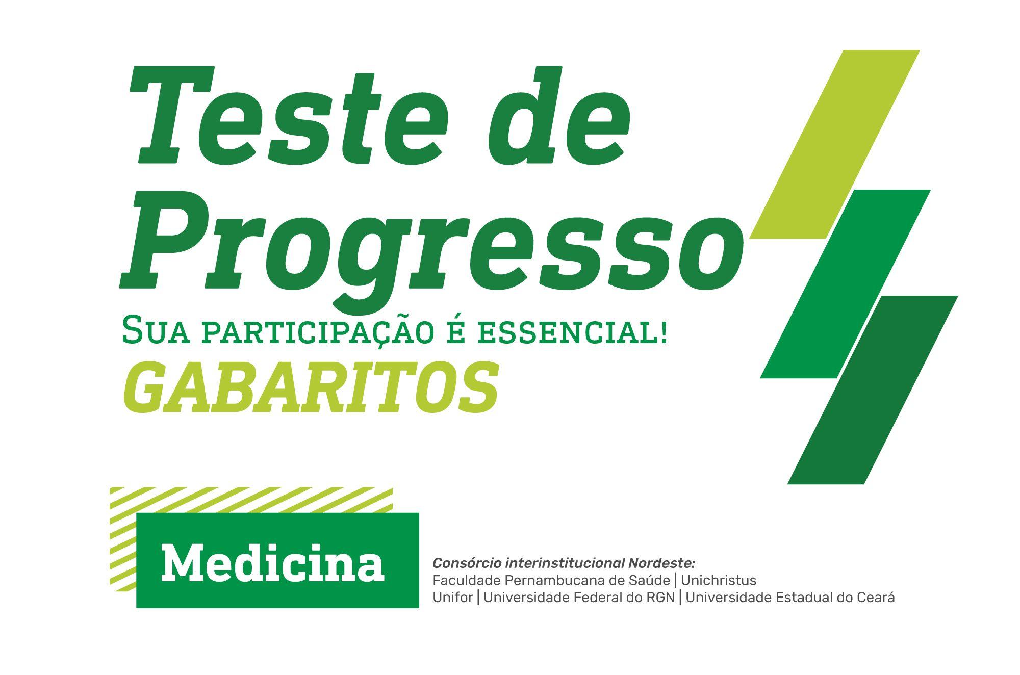 Teste de Progresso Medicina 2021.1 - Gabaritos