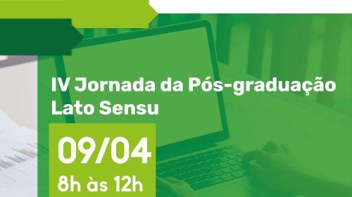 JORNADA DA PÓS-GRADUAÇÃO LATO SENSU - IV EDIÇÃO