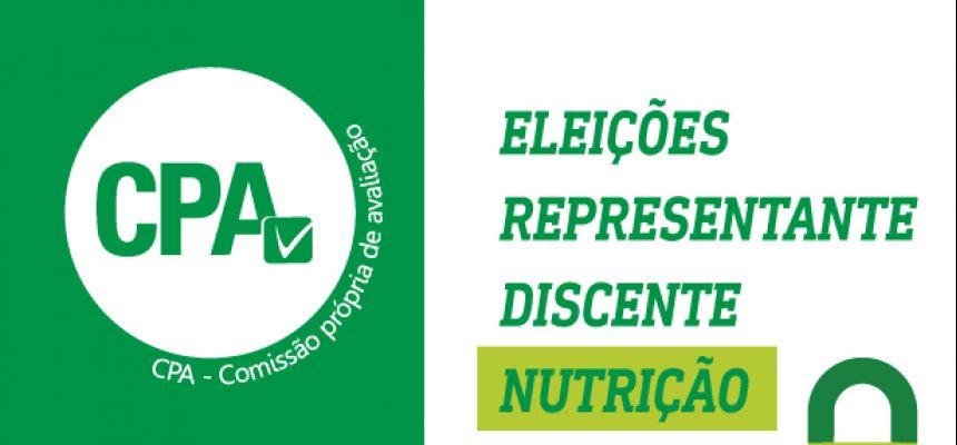 Resultado Eleições representante discente de Nutrição na CPA