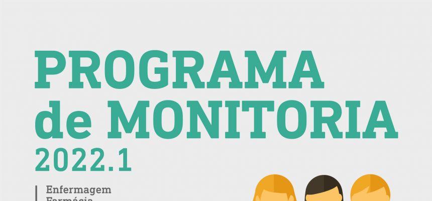 Confira os editais para o Programa de Monitoria 2022.1