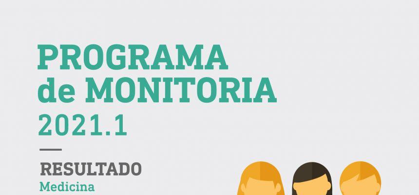 Programa de Monitoria 2021 - Resultado Final Medicina