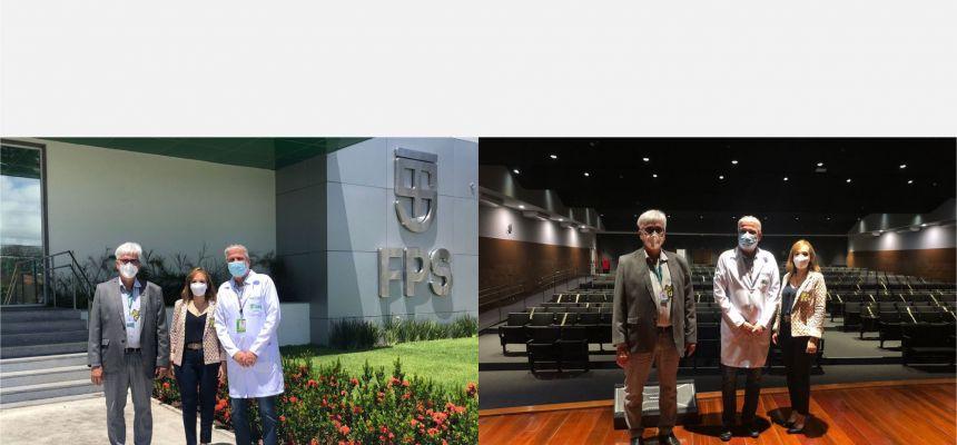 Presidente da FPS recebe o Presidente do Cremepe e a Conselheira Federal de Medicina