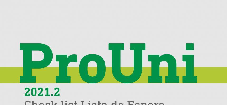 PROUNI 2021.2 - LISTA DE ESPERA