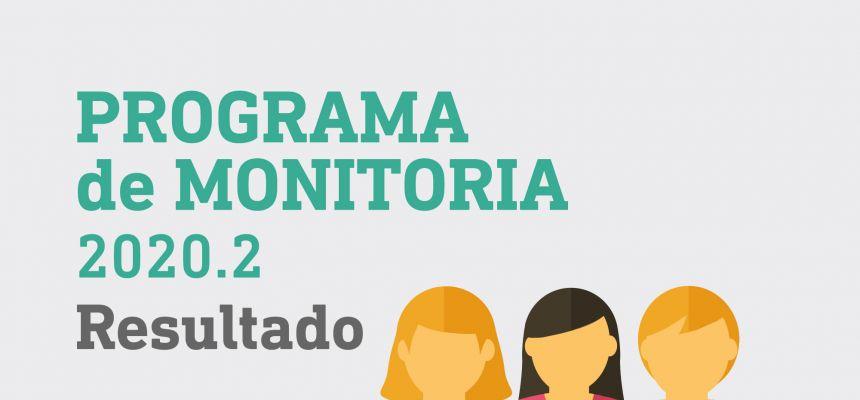Programa de Monitoria 2020.2 - Resultado