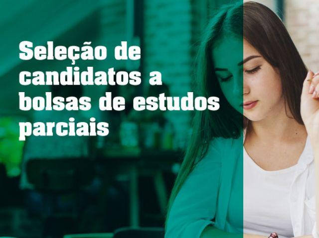 Seleção de candidatos a bolsas de estudo parciais 2019