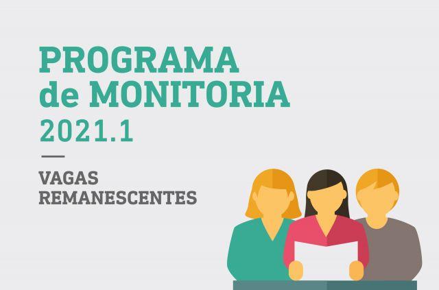 Programa de Monitoria 2021.1 - Vagas remanescentes