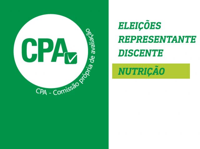 Eleições CPA - Representante Discente de Nutrição