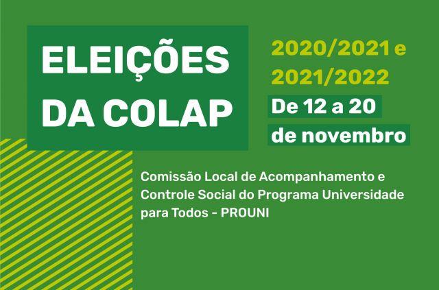 ELEIÇÕES DA COLAP REFERENTE AO BIÊNIO: 2020/2021 e 2021/2022